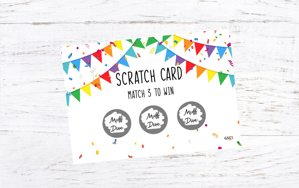 Muff Dive Win Scratch Card