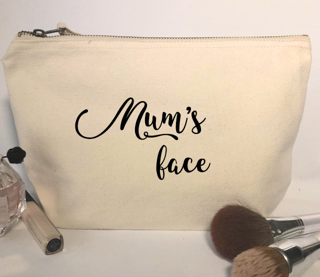 Mum's Face Make-Up Bag
