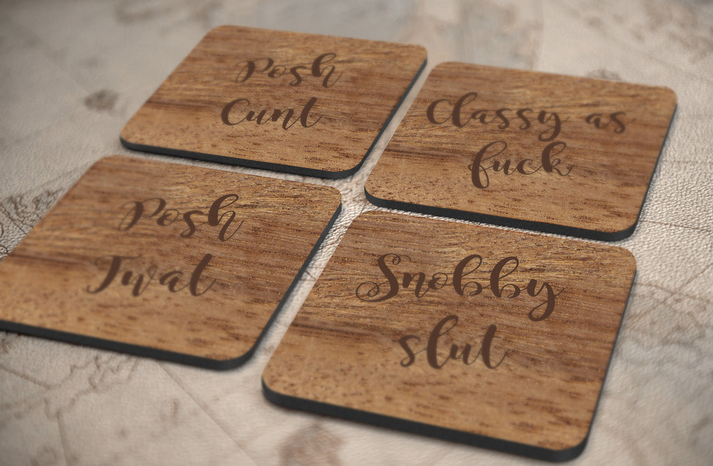 Posh Profanity Coasters (Set of 4)