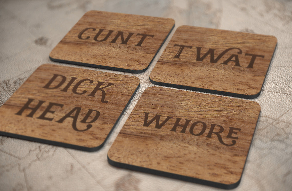 Set of 4 Sweary Coasters*