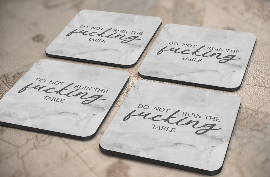Ruin The Table Coasters (Set of 4)