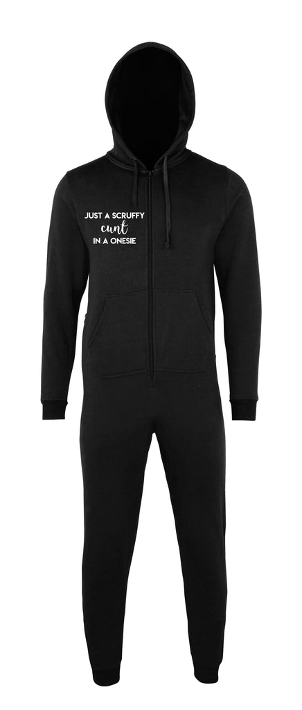 Unisex Black Scruffy Onesie