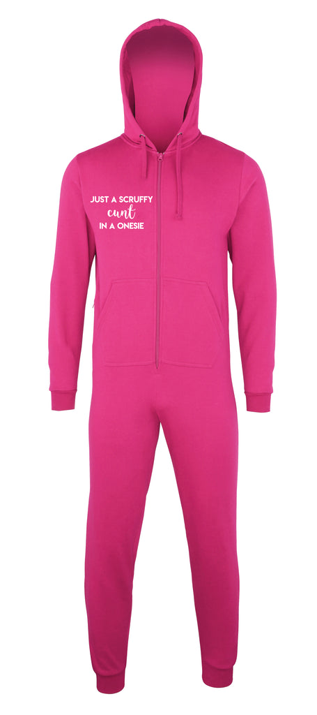 Unisex Hot Pink Scruffy Onesie