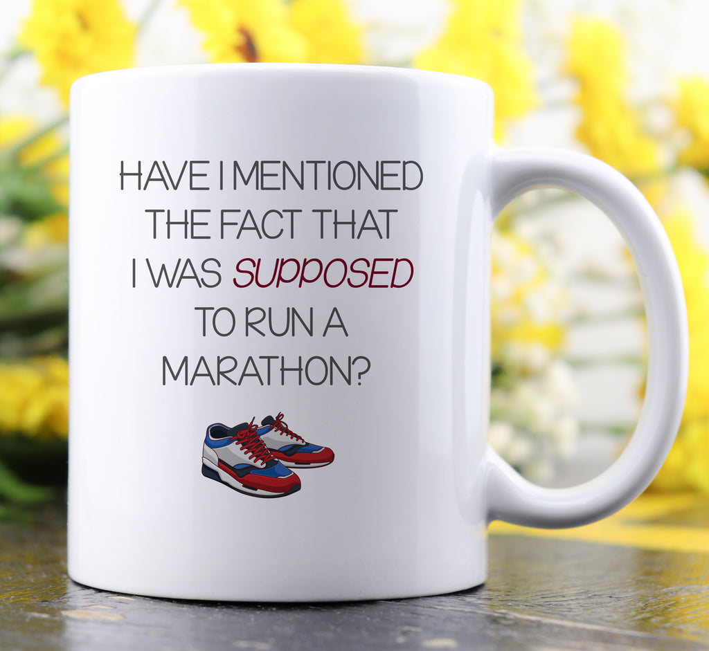 Supposed To Run A Marathon Mug