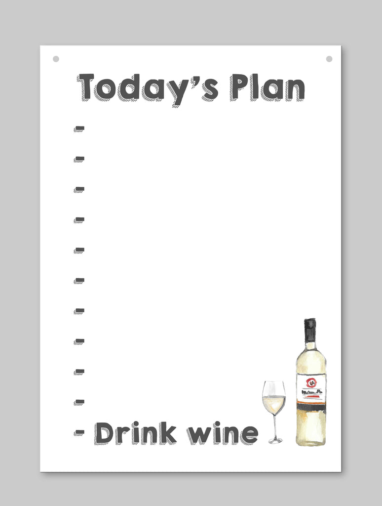 Today's Plan Dry Wipe Board