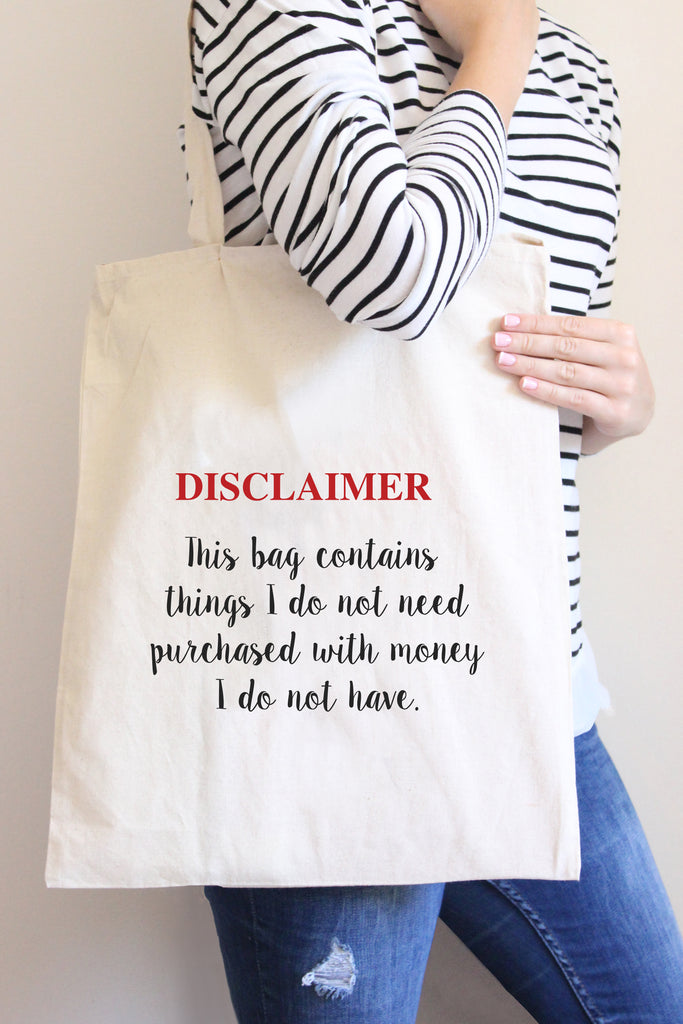 Disclaimer Tote Bag
