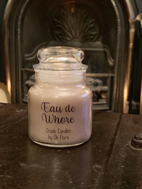 Small Eau De Whore Jar Candle