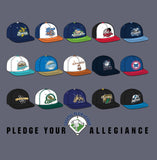 "2017 Coastal Plain League ""Pledge Your Allegiance"" Team Hat Shirt"