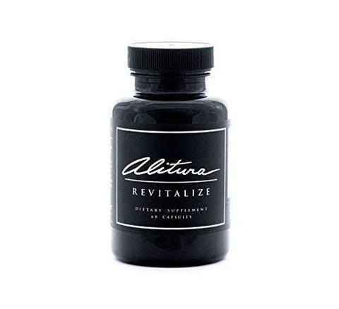 Alitura Revitalize Dietary Supplement. Organic, All-Natural Supplement Made with Adaptogenic Herbs to Reduce Stress, Help Burn Fat and Build Muscle. for Men and Women (60 Capsules)