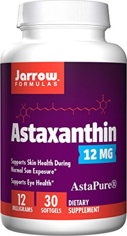 Jarrow Formulas Astaxanthin, A Natural Antioxidant Carotenoid Supports the Skin, Eyes and Immune Health*, 12 mg, 30 Softgels
