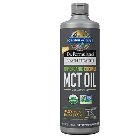Garden of Life Dr. Formulated Organic Brain MCT Oil 16 oz