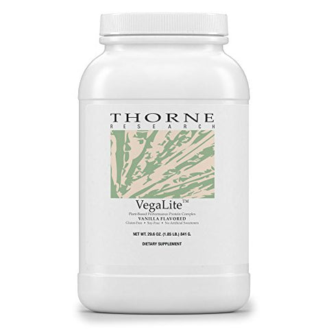 Thorne Research - VegaLite - Vegan Friendly Performance Protein Powder - Vanilla Flavor - 29.6 oz.
