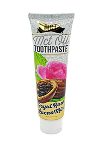 The Dirt Natural Organic Fluoride Free Toothpaste with MCT Coconut Oil (72g) Royal Rose Cacao Mint