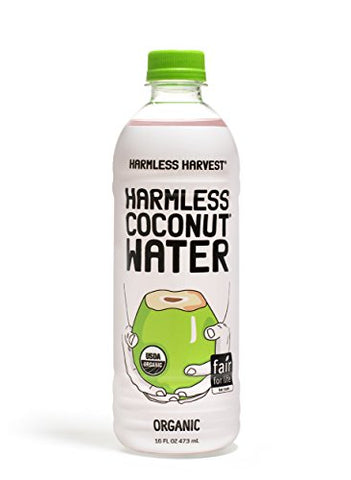 Harmless Organic Coconut Water, Original 16oz (Pack of 12)