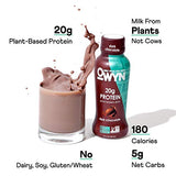 OWYN - 100% Vegan Plant-Based Protein Shakes | Dark Chocolate, 12 Fl Oz (Pack of 12) | Dairy-Free, Gluten-Free, Soy-Free, Tree Nut-Free, Egg-Free, Allergy-Free, Vegetarian