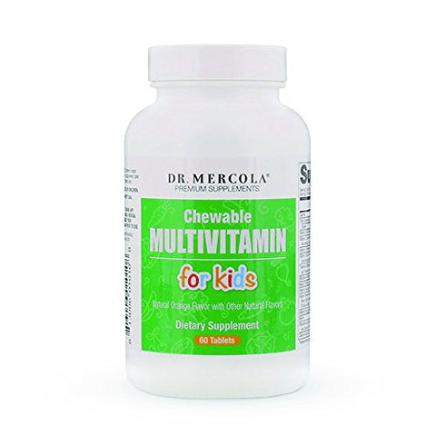 Dr. Mercola Multivitamin for Kids – 60 Chewable Multivitamin Tablets – Support Your Child's Health with Delicious, Sugar-Free and Non-GMO Children's Chewable Multivitamins