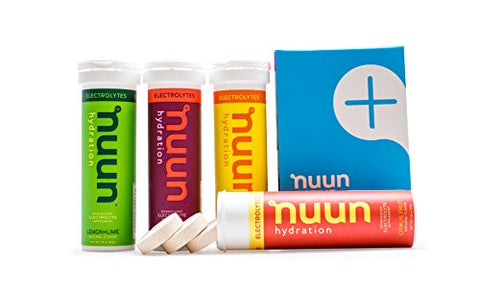 Nuun Hydration: Electrolyte Drink Tablets, Citrus Berry Mixed Flavor Pack, Box of 4 Tubes (40  servings), to Recover Essential Electrolytes Lost Through Sweat