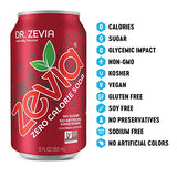 Zevia Zero Calorie Soda, Rainbow Variety Pack, Naturally Sweetened Soda, (24) 12 Ounce Cans; Cola, Ginger Root Beer, Cream Soda, Black Cherry, Dr. Zevia, Orange, Grape, and More Sugar Free Favorites