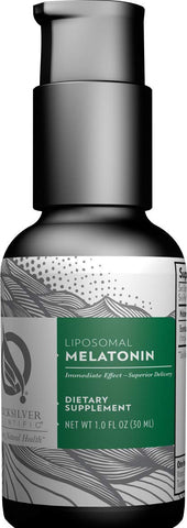 Quicksilver Scientific Liposomal Melatonin - Sleep, Jet Lag & Immune Support + Phospholipid Technology for Superior Absorption + Customizable Dosing, Soy-Free (1 Ounce, 30 Milliliters)