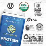 Sunwarrior Warrior Blend, Organic Vegan Protein Powder with BCAAs and Pea Protein: Dairy free, Gluten Free, Soy Free, Non- GMO, Unsweetened protein powder, and Keto Friendly, Vegetarian (Vanilla 750g)
