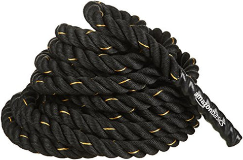 AmazonBasics 1.5in Battle Exercise Training Rope, 30ft
