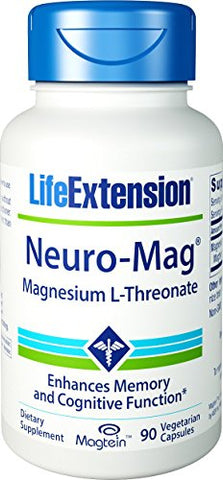 Life Extension Neuro-mag Magnesium L-threonate Dietary Supplements, 90 Vegetarian Capsules