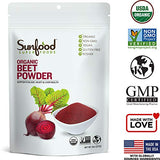 Sunfood Superfoods Beet Powder- 100% Pure Organic. 8 oz Bag