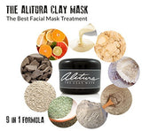 Alitura Anti-Aging Professional Clay Face Mask - Organic & All Natural - Pure Bentonite, Volcanic & Indian Clay for Men and Women - Instantly Detoxify, Brighten, Heal and Smooth Skin - 7.1oz