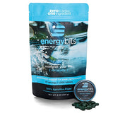 ENERGYbits Purest Spirulina Algae Tablets Organically Grown, Non-GMO, vegan, paleo, ketogenic, raw. One ingredient- 100% pure green Spirulina Plantensis, Bag of 1,000 tabs