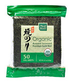 ONE ORGANIC Sushi Nori Premium Roasted Organic Seaweed (50 Full Sheets)