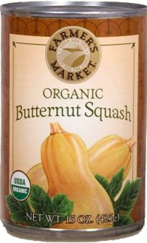 Farmer's Market Foods Organic Butternut Squash, 15-Ounce Cans (Pack of 12)