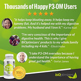 P3-OM - Patented Single Strain Probiotic, 120 Capsules (BiOptimizers) - No Refrigeration Required - 100% Money Back Guarantee - P3OM