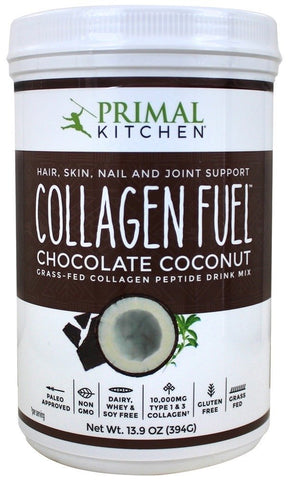 Primal Kitchen - Collagen Fuel Protein Mix, Chocolate Coconut, 15.02 oz, Supports Healthy Hair, Skin, Nails and Joints, Promotes Muscle Repair