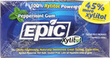 Epic Dental 100% Xylitol Sweetened Gum (Peppermint, 12-Count Blister Packs (Pack of 12))