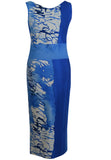 AS2170 'Blue Ocean' Print Sweetheart Dress