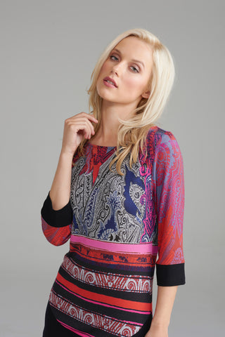 A2282 Pink Paisley Top