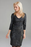 AD2294 Gothic Print Leather Dress