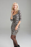 A2296 Leopard Print Zip Dress