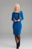 AD2331 Blue & Black Zip Dress