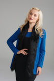 A2332 Blue Fur Trimmed Jacket
