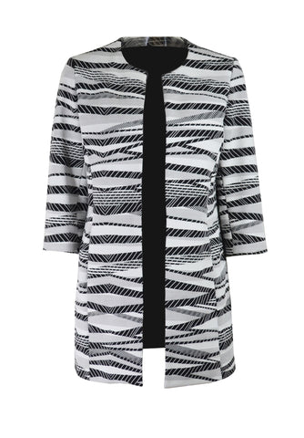 A2484 Black & White Summer Coat
