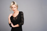 2529 Black Lace Dress