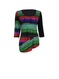 A 2550 Colourful Stripe Zip Top