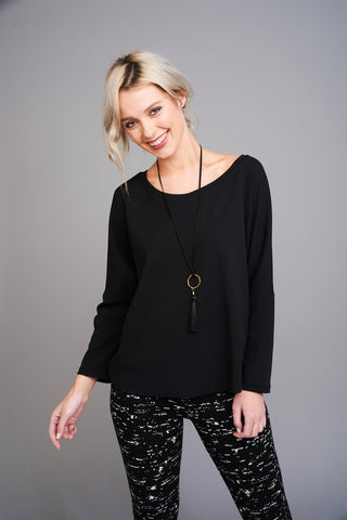 2562 Black Oversized Top