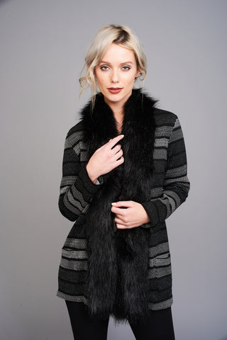 2584 Faux Fur Trimmed Jacket