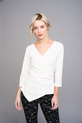 2589 White Crossover Top