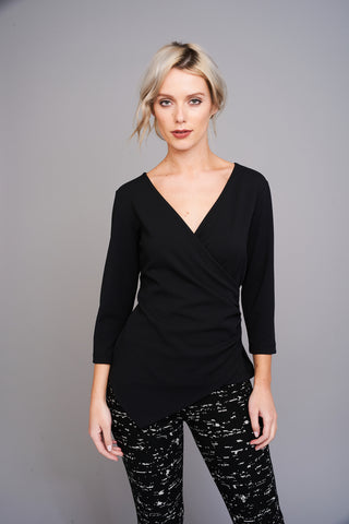 2589 Black Crossover Top