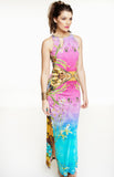 AS1862 Tropical Print Maxi Dress