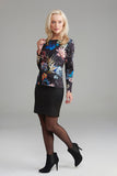 AD2320 Winter Floral Print Dress