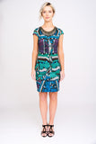 A2469 Tribal Print Neckpiece Dress